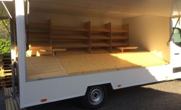 Amenagement food truck en bois sur mesure