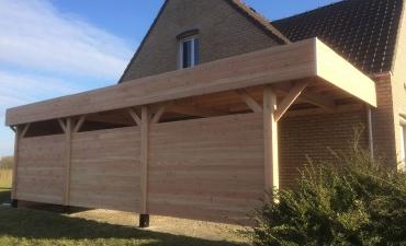 Carport en bois sur mesure dans le Nord (59)