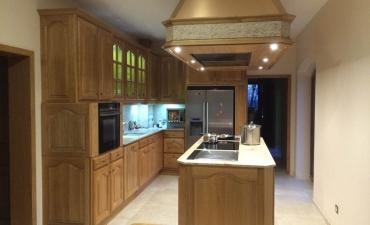 Création de cuisine en bois sur mesure