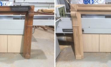 Habillage en bois sur mesure cheminée ancienne